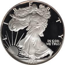 Value Of 1986 1 Silver Coin American Silver Eagle Coin