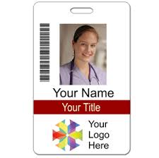 Vertical Photo Id Badge With Logo Bar Code Holmes Custom