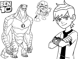 Small Picture Beautiful Ben 10 Coloring Pages 50 In Free Coloring Book with Ben