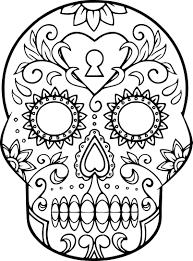 Coloriage Cr Ne En Sucre Imprimer Sur Coloriages Info Dessin Crane Mexicain A Imprimer L