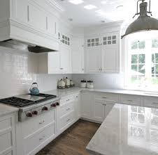 classic white kitchen countertops and cabinets