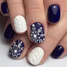30 snowflake square winter nails ideas