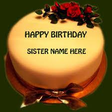 write name on happy birthday cake for