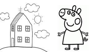 Peppa Pig Coloring Pages For Kids L How To Draw George Pig And