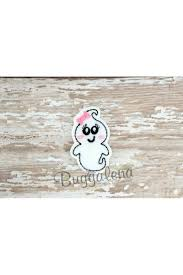 Girly Embroidery Designs Girly Ghost Feltie Embroidery Design