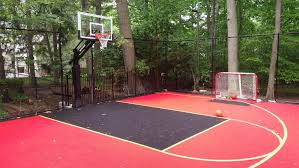 backyard ideas basketball court. x basketball hockey court duracourt by snapsports installed on picture with stunning backyard ideas d