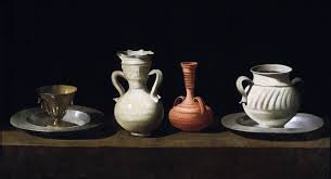 Bodegón de Zurbarán, utilizado para la entrada la evolución del bodegón realizada para la academia de dibujo y pintura Artistas6 de Madrid.