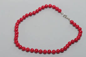 Designing Jewelry With Glass Beads Handmade Childrens Red Glass Bead Necklace Of Average Size Designer Jewelry