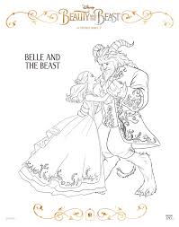 Small Picture Free Printable Beauty and the Beast Coloring Pages
