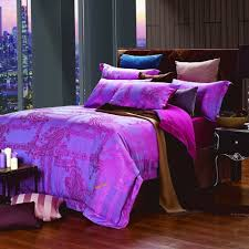 purple and turquoise duvet cover