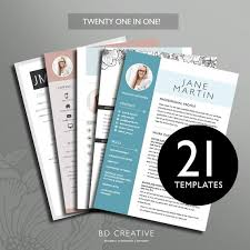 Pretty Resume Templates Mesmerizing Resume Boutique Template Bundle 48 Creative Resume Templates Etsy