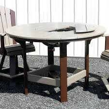 amish round dining table poly round dining table w bowl amish dining table set