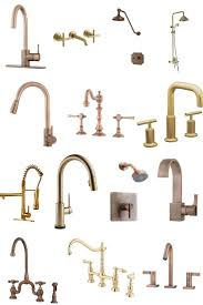 a seriously extensive ping guide of gold copper bronze kitchen bathroom fixtures