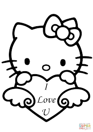 Or, you can teach your kids color online on our site with the interactive coloring machine. Hello Kitty With I Love You Heart Coloring Page From Hello Kitty Category Sele Valentines Day Coloring Page Hello Kitty Coloring Hello Kitty Colouring Pages