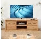 mobel oak wall rack cor07b. Baumhaus Mobel Oak Widescreen Television Cabinet (COR09B) Wall Rack Cor07b