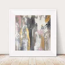 large gold and black painting pink and black painting metallic gold abstract painting on rose gold wall art large with metallic print iridescent pink and black from glamgoldart on etsy
