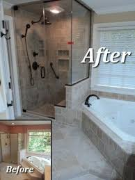Bathroom Remodeling Columbia Md Inspiration Bathroom Remodel Example Like The Corner Tub And Shower Enclosure