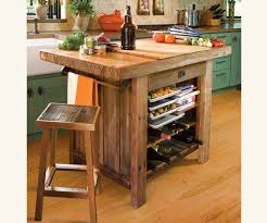 American Barn Wood Kitchen Island Traditional Kitchen Islands