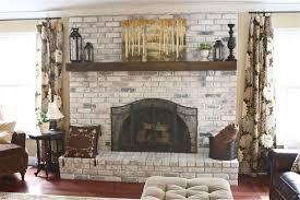 white washed brick fireplace tutorial