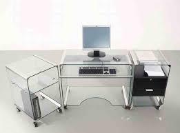 computer desks l shaped modern glass impressive on desk with drawers furniture