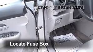 interior fuse box location kia rondo kia rondo locate interior fuse box and remove cover
