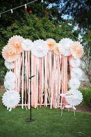 tissue paper fan instead of streamers substitute gray chevron fabric fun d i y paper medallions