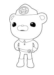 Small Picture Captain Barnacles Standing in The Octonauts Coloring Page