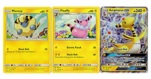 Sun Moon Team Up - Evolution Set - Ampharos GX 43/181 - Flaaffy 42/181 -  Mareep 41/181 - Ultra Rare Card Lot- Buy Online in Isle of Man at  isleofman.desertcart.com. ProductId : 107152028.
