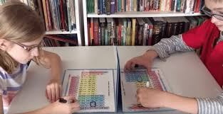 A Clever Mom Uses Periodic Table For Battleship Game For Her Kids ...