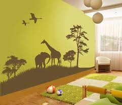 toddler bedroom wall decor new astonishing animal decals for with kids room art plan 15