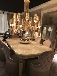 crystal dining room for luxurious impression. A Hint Of Baroque Dining Style Is Modern And Opulent At The Same Time. Crystal Room For Luxurious Impression U