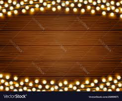 Wood With Lights Lights On Wood Background
