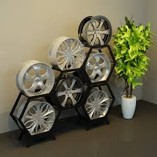 Alloy Wheel Display Stand Wheels rack wheel Display Rack wheel Display Rack hexagon wheel 54