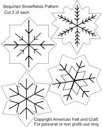 Felt+Ornaments+Patterns+Free   Sequin Snowflakes Felt Christmas Ornament  Pattern   American