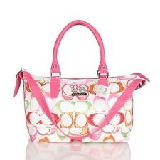 Coach In Monogram Large Pink Totes BWQ