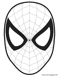 Small Picture Spider Man Face Template Cut Out Colouring Page Coloring Pages