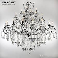 large 28 arms wrought iron chandelier crystal light fixture chrome re de sala crystal hanging lamp md051 l28 modern chandelier candle chandelier from