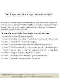 15 Hvac Resumes Samples Proposal Spreadsheet