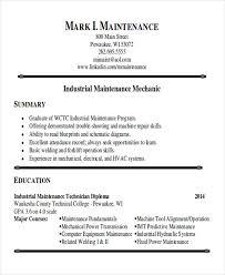 Maintenance Mechanic Resume Sample Maintenance Technician Resume Sample Beni Algebra Inc Co Resume
