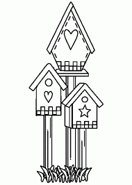 Small Picture Cute Shaped Bird House Coloring Pages Best Place To Color