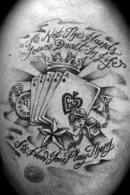 Tattoos Casino Designs Life S A Gamble Designs Wrist Tattoos Pictures Lifes A