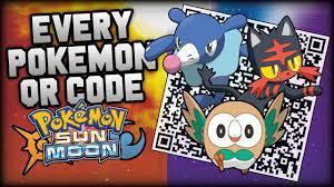 Pokémon Sun and Moon COMPLETE Pokédex - All QR Codes - YouTube