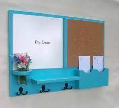 mail organizer cork board