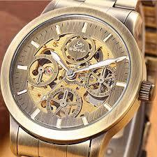 online get cheap waterproof self winding watches men aliexpress famous brand luxury shenhua vintage bronze mechanical skeleton watches men waterproof automatic self wind wrist watches