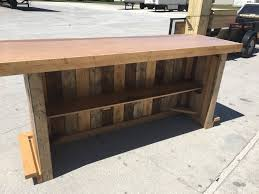 Barnwood Bar the maggie 8 rustic finished barnwood or pallet style bar 5499 by xevi.us