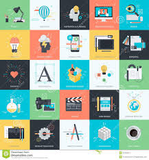 Graphic Design Apps Set Of Flat Design Style Icons For Graphic And Web Design