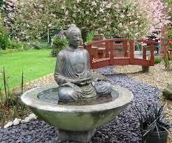 serene buddha patio fountain with