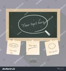 Blackboard Paper Note Stock Vector 212614225 Shutterstock