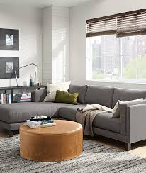 holden sofa with chaise and aero leather ottoman