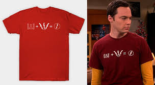 chemicals lightning bolt can only equal one thing the flash of course this t shirt is similar to another one of sheldon s